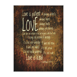 Love Is Patient Mixture Canvas Print