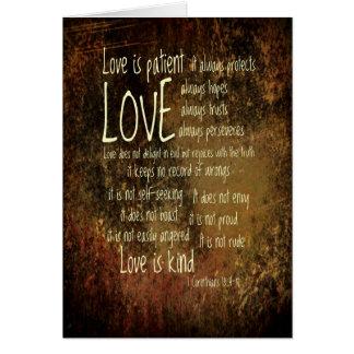 Love Is Patient Mixture Card