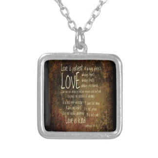 Love Is Patient Mixture Silver Plated Necklace