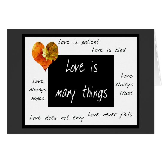 Love is patient notecards card