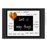 Love is patient notecards cards