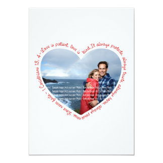 Love is Patient Photo Heart White & Red Card