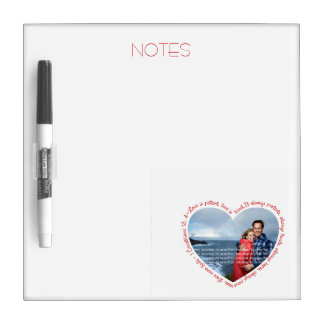 Love is Patient Photo Heart White & Red Dry-Erase Board