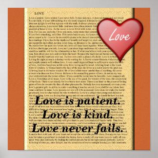 Love is patient poster