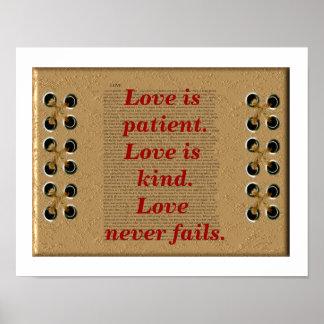 Love is patient. print
