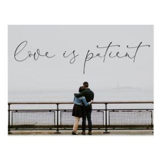 Love is Patient Postponed Wedding Postcard