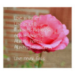 Love is Patient Rose Posters