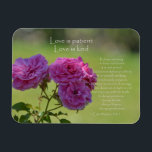 "Love is Patient Roses Magnet<br><div class=""desc"">Love is Patient Roses</div>"