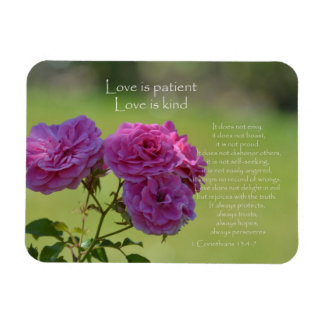 Love is Patient Roses Magnet