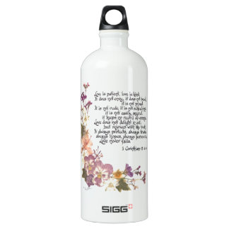 Love is patient SIGG traveler 1.0L water bottle