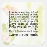 Love is Patient Spring Flowers Sticker