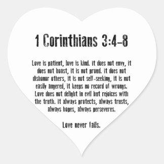 Love is Patient Sticker