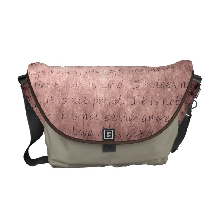 Love is Patient Vintage Messenger Bag