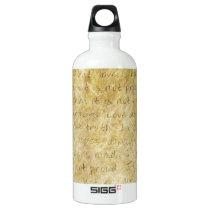 Love is Patient Vintage Water Bottle