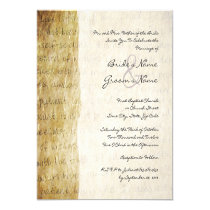 "Love is Patient Vintage Wedding Invitation 5.25"" Square Invitation Card"