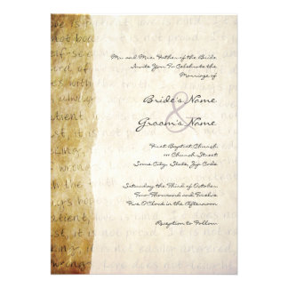 Love is Patient Vintage Wedding Invitation