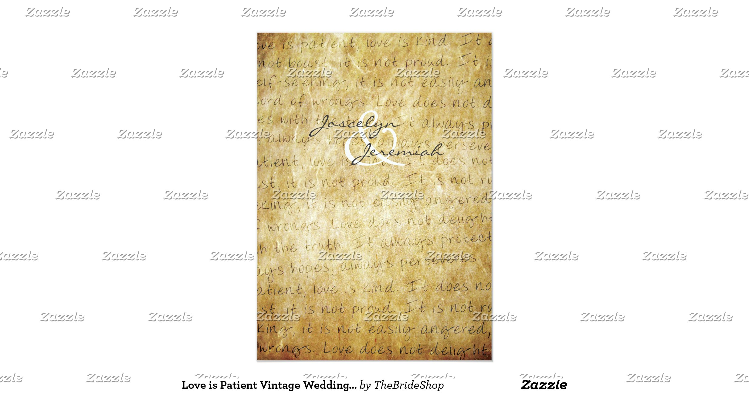 Love Is Patient Vintage Wedding Invitation Ra95683d456de42b3803d79fae0472573 Zkrq3 1200