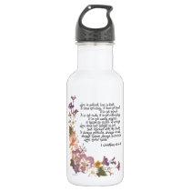 Love is patient water bottle