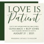 Love is Patient Wedding Postponement Announcement