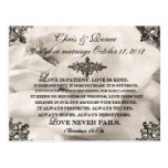 Love Is Patient Wedding Save The Date Postcard