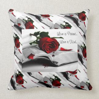 Love Is Pillow Grade A Cotton Throw Pillow/Roses