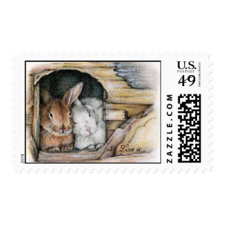 Love is... postage stamp