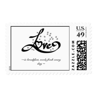 Love is postage stamps