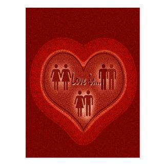 Love is... postcard