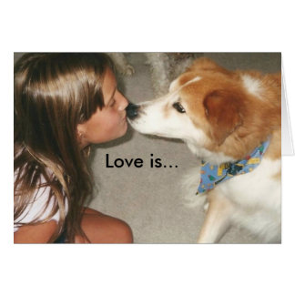 Love is... Puppy Kisses! Stationery Note Card