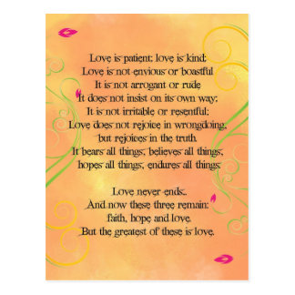 Love is Quote Postcard