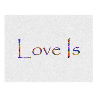Love Is Rainbow Postcard
