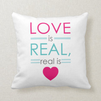 Love is real real is love Throw Pillow 16 x 16