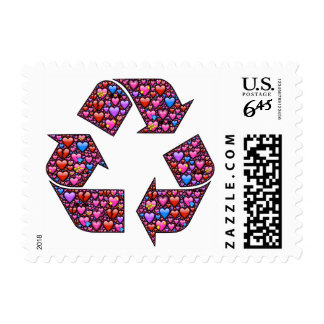 Love is recyclable stamp