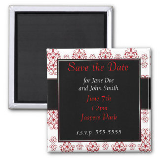 Love is Red 2 Inch Square Magnet