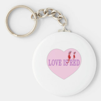 Love Is Red Heart Keychain