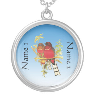 Love is round pendant necklace