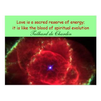 Love is sacred postcard