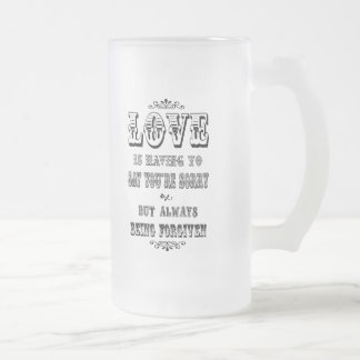 Love is Saying Frosted Glass Beer Mug