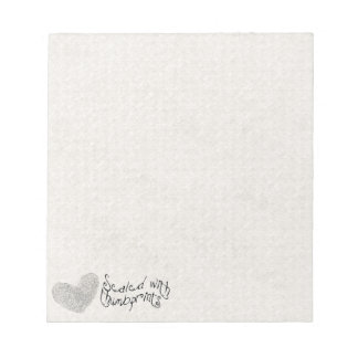 Love is sealed with thumbprints heart notepad