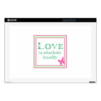 """LOVE IS DECAL FOR 17"""" LAPTOP"""