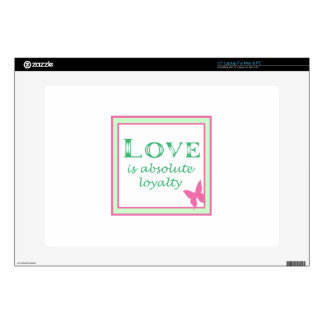 LOVE IS DECALS FOR LAPTOPS