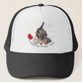 Love is sleeping doggy style. trucker hat