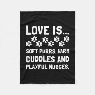 Love Is Soft Purrs Fleece Blanket