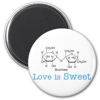 Love is Sweet 2 Inch Round Magnet