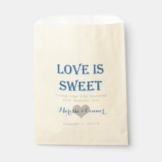 Love Is Sweet Blue and Gray Wedding Bags
