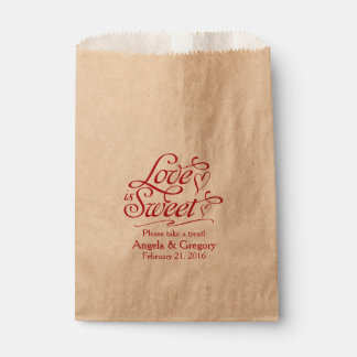 Love is Sweet Candy Buffet Dessert Buffet Wedding Favor Bag