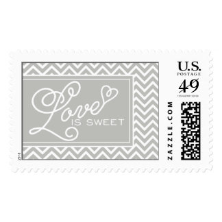 Love is Sweet Chevron by My Wedding Postage
