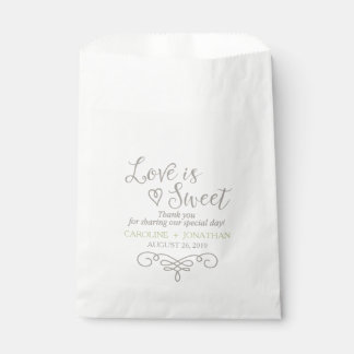 Love Is Sweet Custom Favor bags