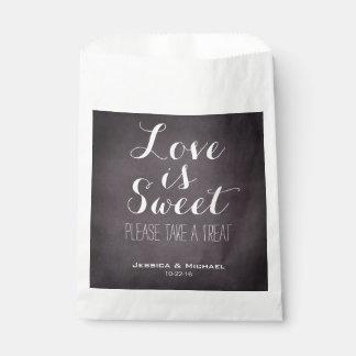 Love is sweet custom wedding candy buffet favor ch favor bag