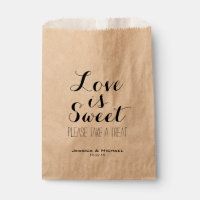 Love is sweet custom wedding candy buffet favor favor bag